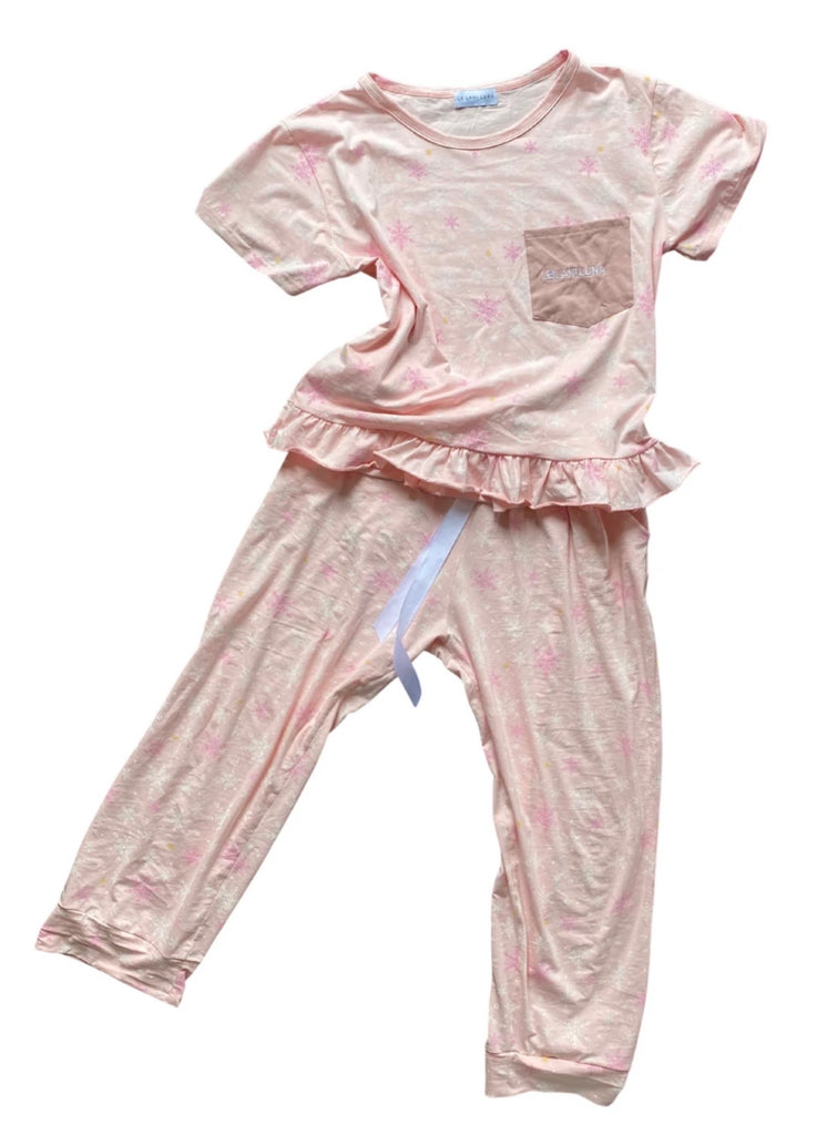 Women's Christmas Snowflake Sleepwear Set