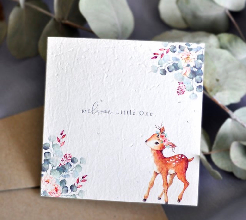 Plantable Card - Oh Deer Baby Shower Card