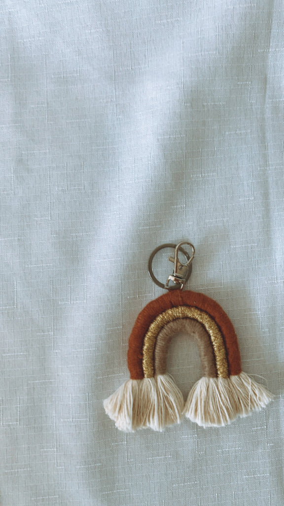 Macrame Rainbow Key Rings