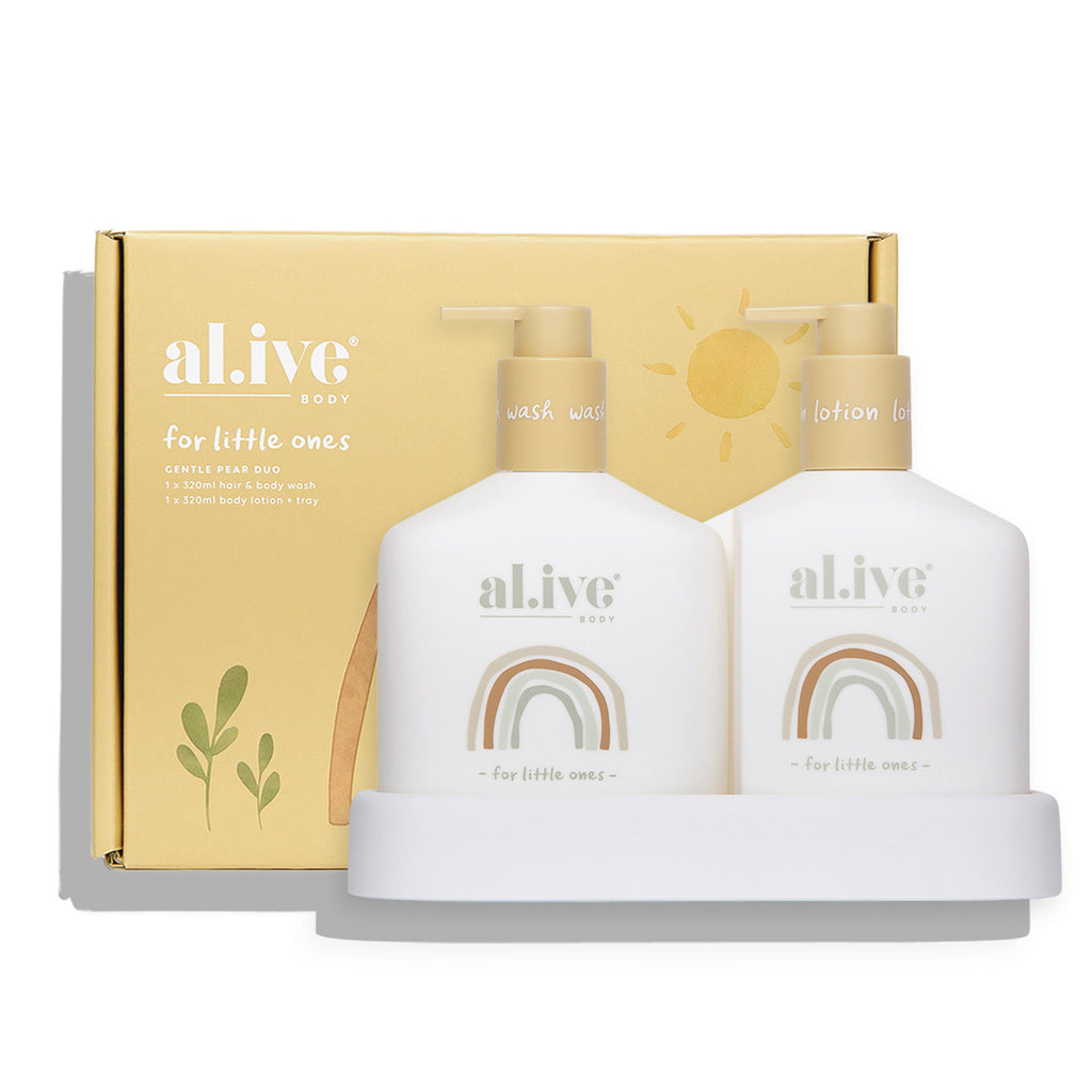 Al.ive Body Baby Duo - Hair/Body Wash & Lotion & Tray | Gentle Pear
