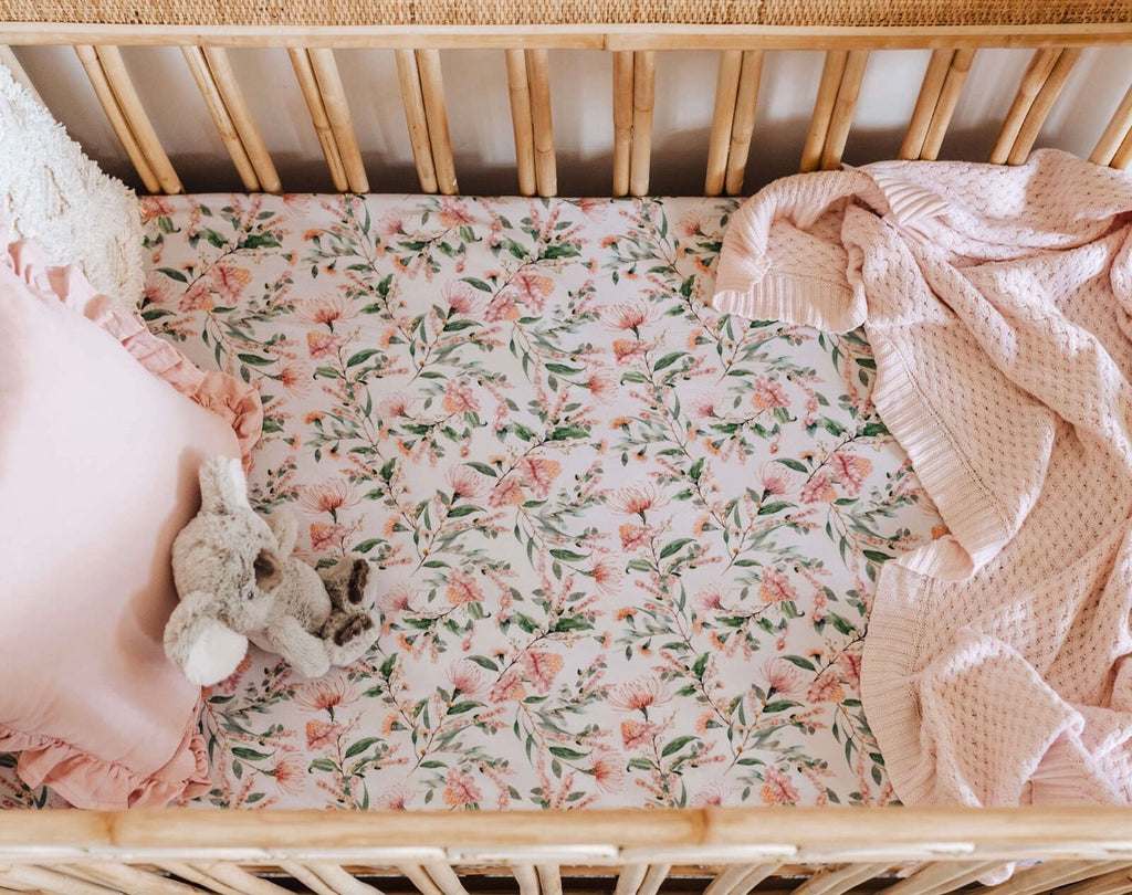 Wattle | Fitted Cot Sheet