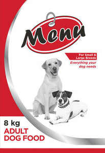 MENU ADULT DOG FOOD (PRICES FROM)