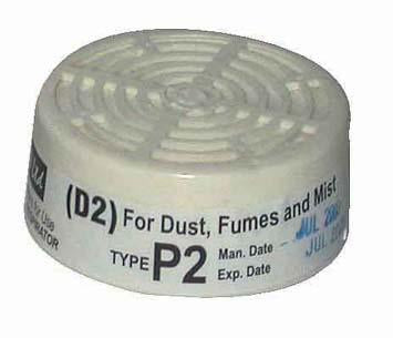 RESPIRATOR SPARE FILTER DUST D2/P2