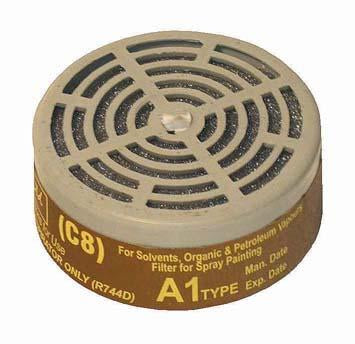 RESPIRATOR SPARE FILTER PAINT A1/C8