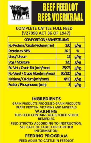 Beef Feedlot Finisher Meal 40kg