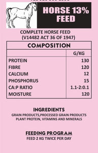 Horse 13% Ration Meal 40kg