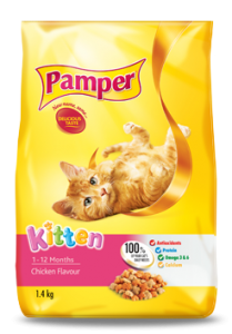 Pamper Kitten Dry Food 1.4Kg