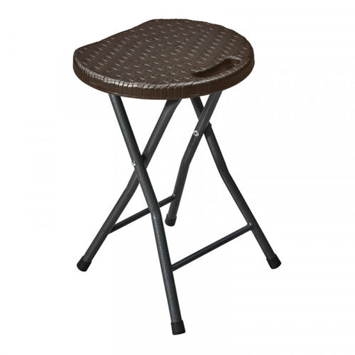 KAUFMANN STOOL FOLDABLE HDPE BROWN