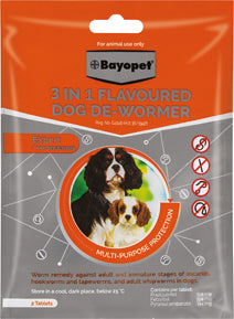 Bayopet® 3 In 1 Flavoured Dog De-Wormer