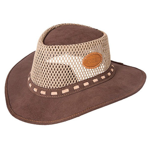 ROGUE HAT BREEZY AIRHEAD CANVAS MESCH CHOC