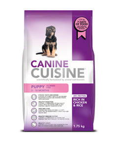Canine Cuisine for puppies (prices from)