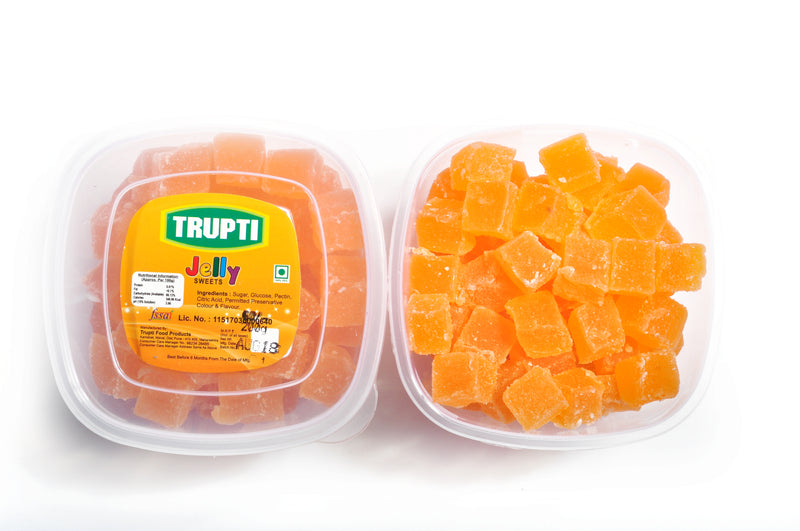 Mango Jelly cube with sugar coated (In container)