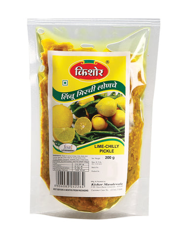 Kishor Masalewala Limechilly Pickle in standy (Set of 4 * 200gm each)