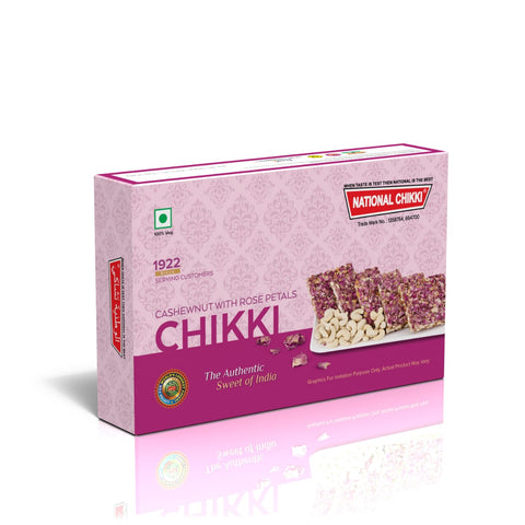National's Cashewnut with Rose Petals Chikki - lonavalafood