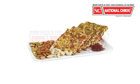 National Chikki Almond Pista Chashewnut with Saffron