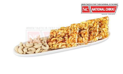 National Chikki Cashewnut with Saffron Chikki