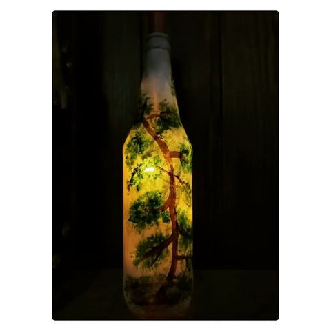 Decorative light glass bottle - lonavalafood