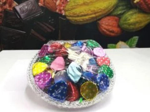 Homemade Chocolate Gifting in CIRCLE / ROUND basket (Chocohut) - lonavalafood