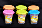 Jelly cube with sugar coated (Mix flavour in Bucket - Set of 6 - 100 gm each) - lonavalafood