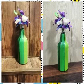 Plastic bottle painted