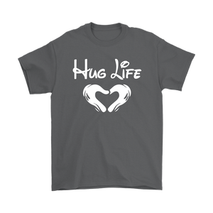 """Hug Life"" Recovery-themed unisex t-shirt - Gray"