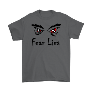 """Fear Lies"" original design recovery-themed unisex t-shirt"