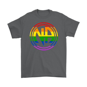 LGBTQ Narcotics Anonymous Pride T-Shirt - Gray