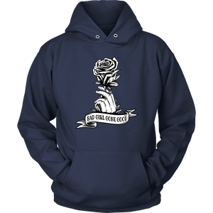 """Bad Girl Gone Good"" Original 12-Step Lifestyle Recovery-Theme Design Navy Hoodie"
