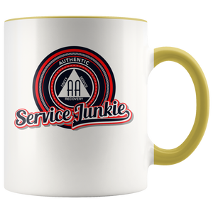 """Authentic AA Service Junkie"" Alcoholics Anonymous Coffee Mug"