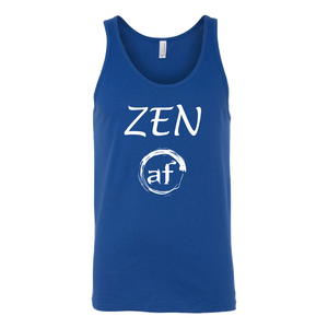"""ZEN AF"" recovery-themed original design unisex tank top!"