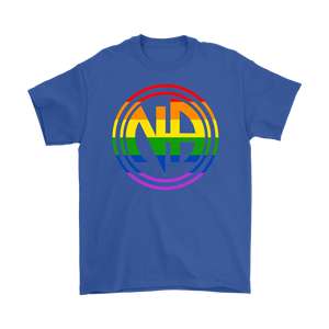 LGBTQ Narcotics Anonymous Pride T-Shirt - Blue
