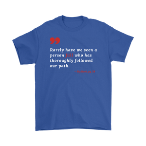 """Rarely have we seen a person fail"" Alcoholics Anonymous T-shirt - Blue"
