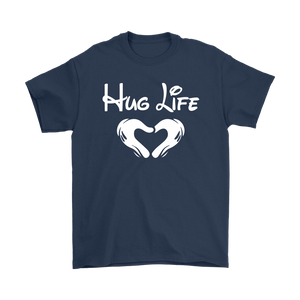 """Hug Life"" Recovery-themed unisex t-shirt - Navy"