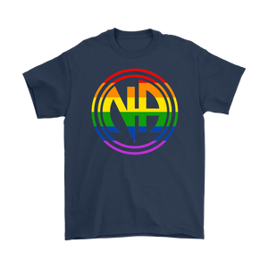 LGBTQ Narcotics Anonymous Pride T-Shirt - Navy
