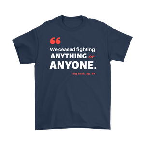 """We Ceased Fighting Anyone or Anything"" Original Unisex AA Tee - Navy"