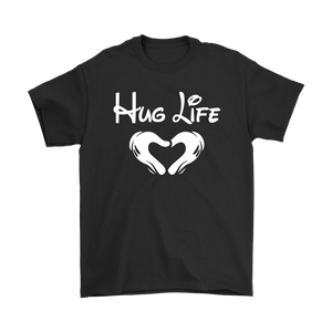 """Hug Life"" Recovery-themed unisex t-shirt - Black"