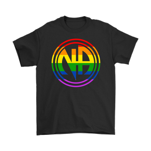 LGBTQ Narcotics Anonymous Pride T-Shirt - Black