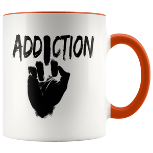 """F*** Addiction"" Recovery Coffee Mug - Orange"