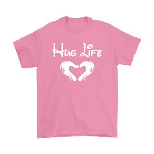 """Hug Life"" Recovery-themed unisex t-shirt - Pink"