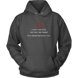 """Amazing Grace"" Alcoholics Anonymous Original Unisex Hoodie - Charcoal"