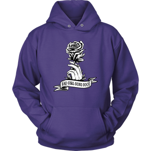 """Bad Girl Gone Good"" Original 12-Step Lifestyle Recovery-Theme Design Purple Hoodie"