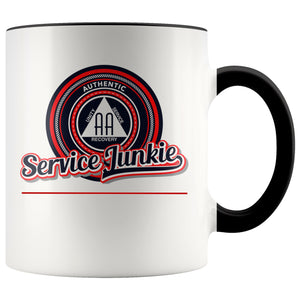 """Authentic AA Service Junkie"" Coffee Mug"