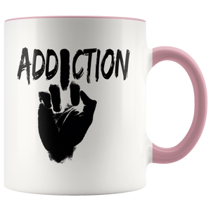 """F*** Addiction"" Recovery Coffee Mug - Pink"