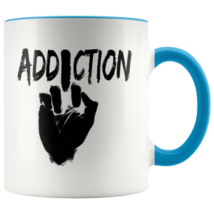 """F*** Addiction"" Recovery Coffee Mug - Blue"