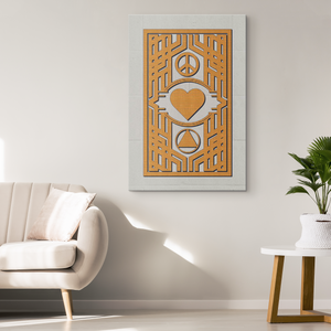 """Peace, Love, and AA"" Original Wrapped Canvas Wall Art Print"