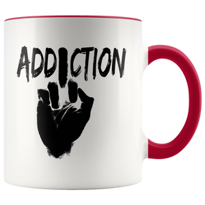 """F*** Addiction"" Recovery Coffee Mug - Red"