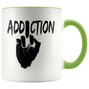 """F*** Addiction"" Recovery Coffee Mug - Green"
