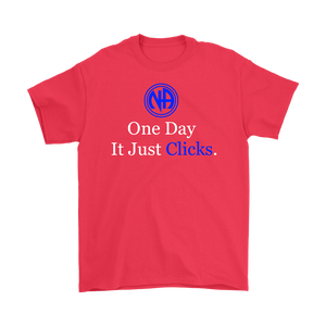 """NA One Day It Just Clicks"" Narcotics Anonymous Logo T-shirt"