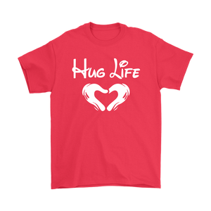 """Hug Life"" Recovery-themed unisex t-shirt - Red"