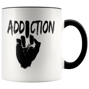 """F*** Addiction"" Recovery Coffee Mug - Black"